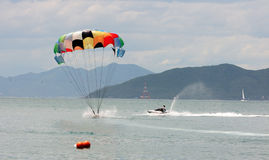 Atterrissage de Parasail Images stock