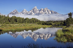 Atterrissage de Schwabacher's en parc national grand de Teton, Wyoming Photo stock