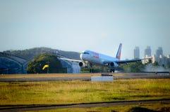 Atterrissage de Tam Airliner Photos stock