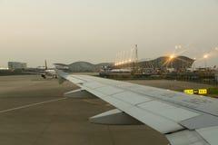 Atterrissage du sud de ligne aérienne de la Chine à Changhaï Photos libres de droits