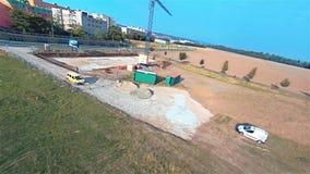 Atterrissage forcé de bourdon - accident de quadrocopter, paysage, l'Europe banque de vidéos