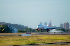 Atterrissage Gol Airlines Airplane Photos stock