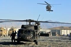 Atterrissage militaire d'hélicoptère des USA Images stock