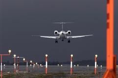 atterrissage orageux Images libres de droits