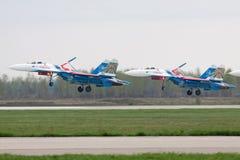 Atterrissage SU-27 Photos libres de droits