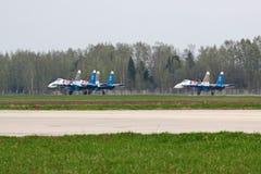 Atterrissage SU-27 Photo stock