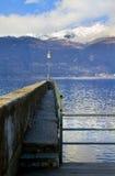 Atterrissage sur le lac Photo libre de droits
