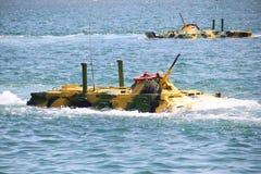 Atterrissages amphibies sur la côte image stock