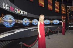 Atterrisseur 4K Oled TV Images libres de droits