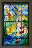 ATTERSEE, SALZKAMMERGUT/AUSTRIA - 9月18日:彩色玻璃W 库存照片