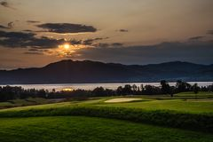Attersee And Golf Club - Salzkammergut, Austria stock photography