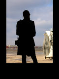 Attesa della donna Fotografia Stock