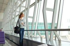 attesa di volo Immagini Stock
