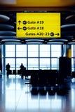 attesa di volo Fotografie Stock Libere da Diritti