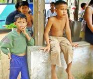 Attesa - la Cambogia Fotografia Stock