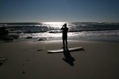 Attesa perfetta dell'onda Fotografia Stock Libera da Diritti
