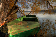 Attesa sola della barca? Fotografia Stock