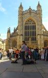 Attese davanti all'abbazia del bagno Fotografia Stock