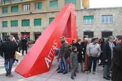 Attias Livorno da praça Imagem de Stock