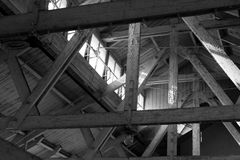 Attic beams Royalty Free Stock Images