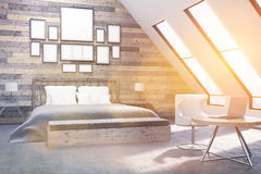 Attic bedroom Royalty Free Stock Photography
