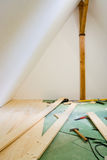 Attic conversion. In a house stock image