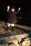 Child holding speech Royalty Free Stock Photography