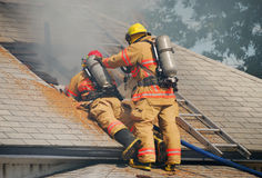 Attic Fire Royalty Free Stock Photos