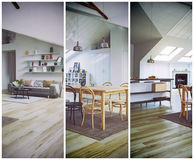 Attic floor design cut Royalty Free Stock Photos