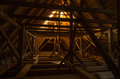 The attic. A guiet morning in the attic  in the eagle High Royalty Free Stock Photo