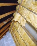Attic Insulation Stock Photos