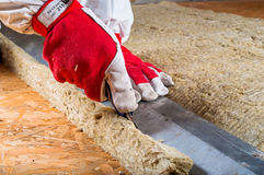Attic insulation Royalty Free Stock Image