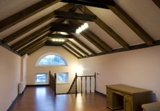 Attic interior Royalty Free Stock Images