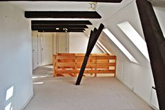 Attic interior Stock Image