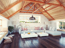 Attic interior. Stock Images