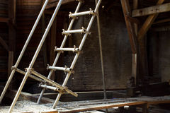 Attic with ladder Stock Images