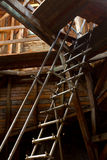 Attic with ladder Royalty Free Stock Image