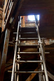 Attic with ladder Stock Image