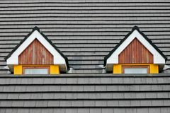 Attic loft windows stock image