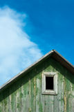 Attic of an Old Wooden House Stock Photos