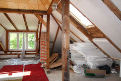 Attic before reworking Stock Image