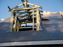 Attic Roof Window in Construction,  showing Frame,  Insulation and Flashing Royalty Free Stock Photography