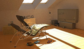 Attic room Stock Photos