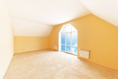 Attic room interior Royalty Free Stock Photography
