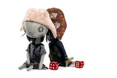 Attic sad  dolls Stock Photo