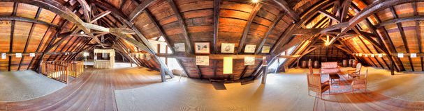 Attic at Sain Aubin estate Royalty Free Stock Image