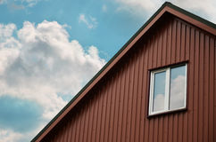 Attic with a small window Royalty Free Stock Photo