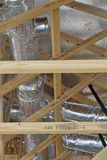Residential home construction attic view stock image