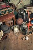 Attic vintage treasures Royalty Free Stock Photo
