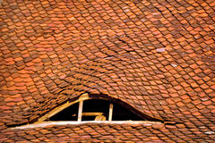 Attic window from an old roof tile Royalty Free Stock Images